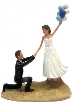 Custom Up, Up and Away Wedding Cake Topper