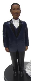 Full Figured Groom Cake Topper Figurine