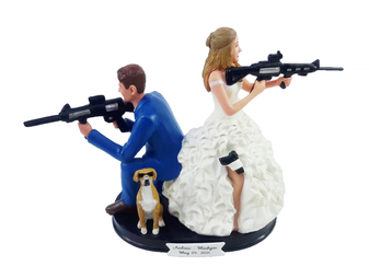 Custom Movie Mr. and Mrs. Smith Couple Wedding Cake Topper