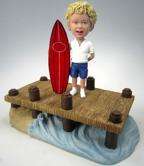 Surfer Boy Birthday Cake Topper