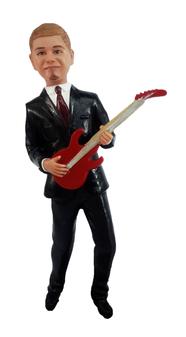Electric Guitar Groom Cake Topper Figurine