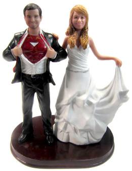 Custom Iron Man Wedding Cake Topper w/ Mix & Match Bride