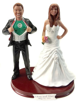 Green Lantern Wedding Cake Topper