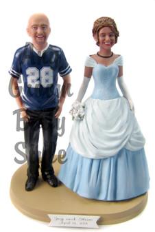 Custom Cinderella Wedding Cake Topper