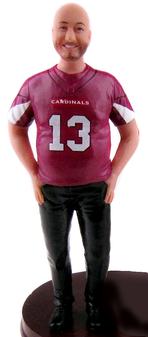 Big & Tall Sports Groom Cake Topper Figurine