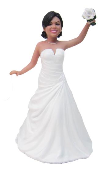 Dancing Bride Cake Topper Figurine