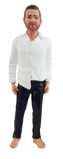 Disheveled Groom Cake Topper Figurine