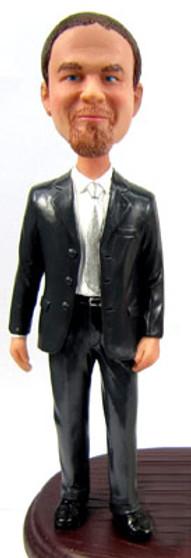 Martin - Suit Groom Cake Topper Figurine
