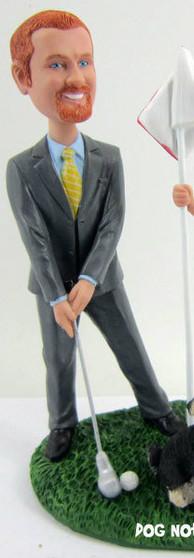Golfing Groom custom wedding Figurine
