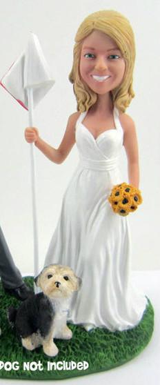 Bride Holding Flag Figurine