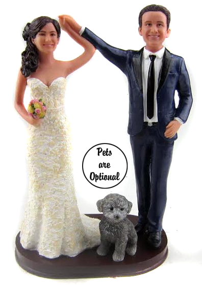 Custom Will You Dance With Me? Wedding Cake Topper
