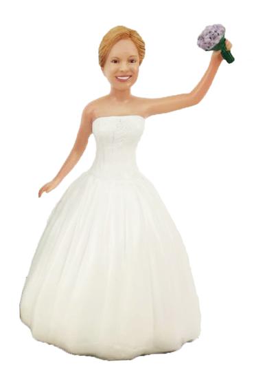 Dancing Bride 2 Cake Topper Figurine