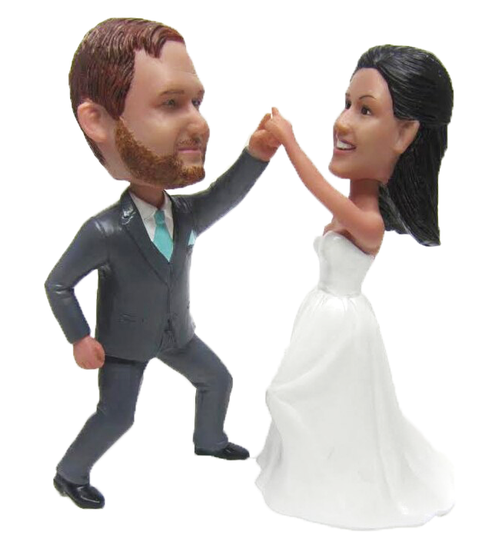 Custom Dancing Couple Wedding Cake Topper