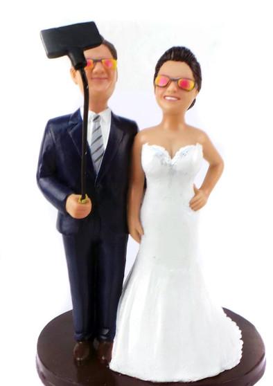 Custom Selfie Wedding Cake Topper