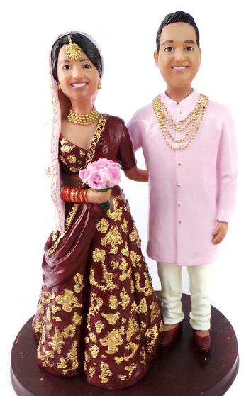 Custom Elegant Indian Cake Topper