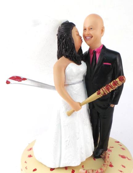 Custom Zombie Killers Wedding Cake Topper