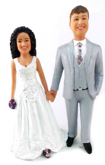Custom Best Friends Forever Wedding Cake Topper