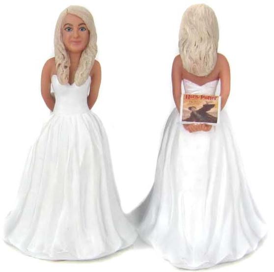 Sam Bride - Holding a Book Cake Topper Figurine