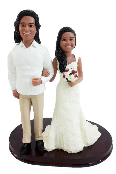 Custom Casual Arm in Arm Wedding Cake Topper