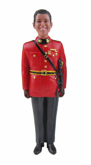 Royal Canadian Mounted Police Groom Cake Topper Figurine