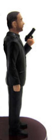 Short Gun Groom Cake Topper Figurine