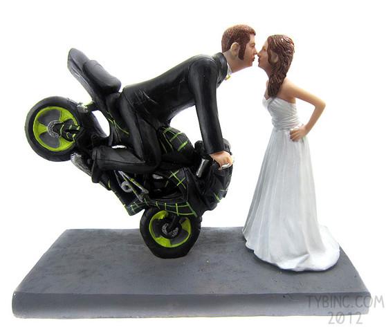 Custom Dirt Bike Kissing Couple Topper