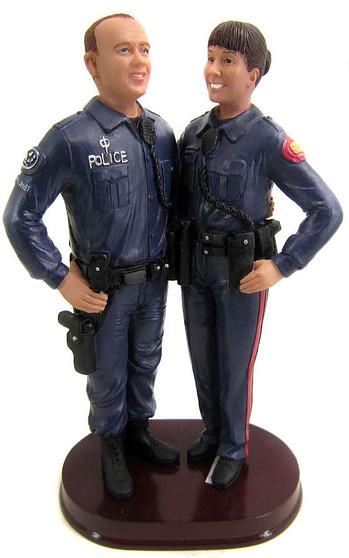 Custom Police Officer Wedding Cake Topper - Long Sleeved Uniform