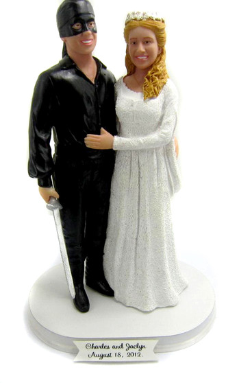 Princess Bride Wesley Dreaded Pirate Roberts and Buttercup Wedding Cake Topper