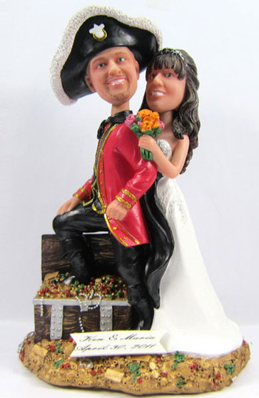Pirate Wedding Cake Topper