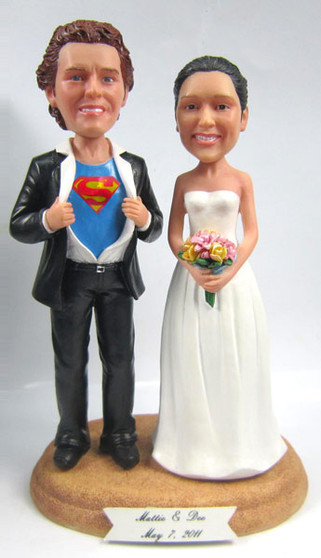 Superhero Groom w/ Interchangeable Bride Style