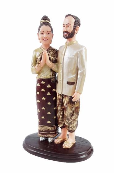 Custom Laotian Wedding Cake Topper