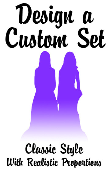 Custom Set of Mix & Match LGBTQ+ Classic Brides Wedding Cake Toppers