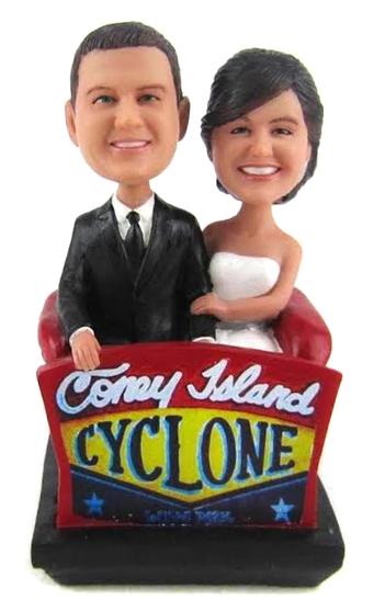 Custom Roller Coaster Wedding Cake Topper