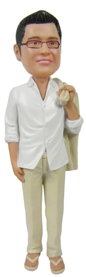 Real Peeps Cake Topper Male #18 - Linen Suit