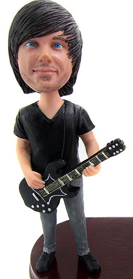 Guitar Groom Cake Topper Figurine