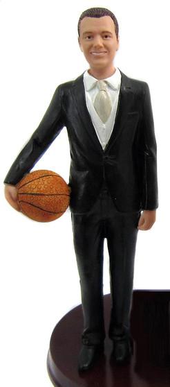 Basketball Groom Cake Topper Figurine