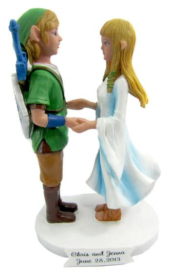 Link and Zelda Custom Wedding Cake Toppers