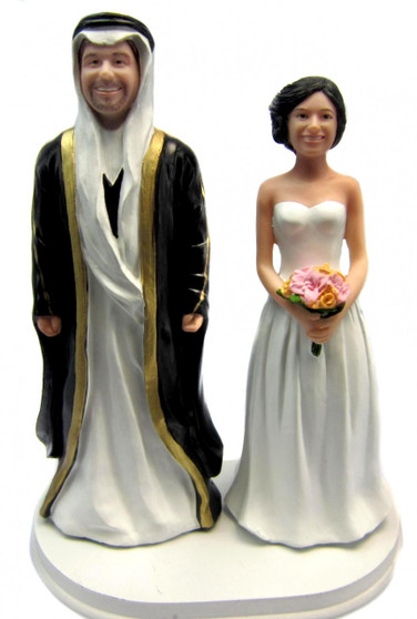 Custom Arabic Wedding Cake Topper