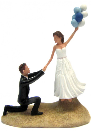 Up, Up and Away Wedding Cake Topper