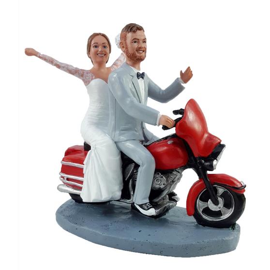 Harley Couple Wedding Cake Topper