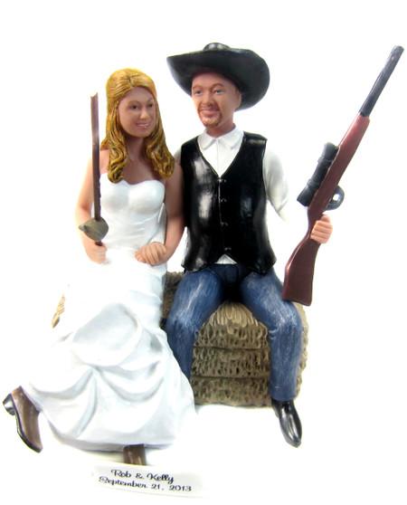 Custom Country Wedding Cake Topper