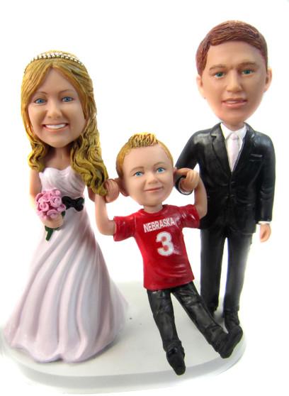 Custom 1...2...3...SWING Wedding Cake Topper