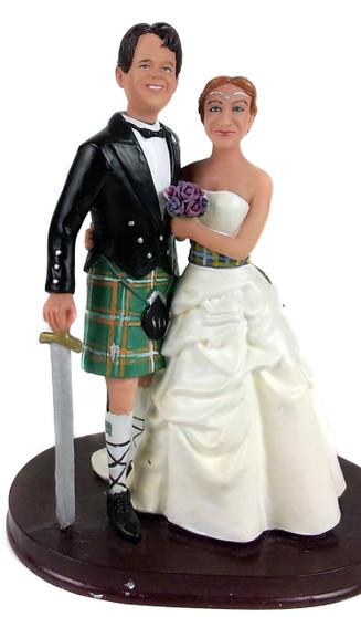 Scottish Couple Wedding Cake Topper