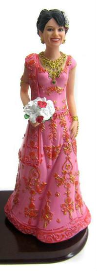 Sari Bride Cake Topper Figurine