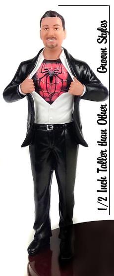Big & Tall Superhero Groom Cake Topper