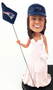 Bride Holding Flag Figurine with Hat Add-on