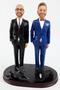 Custom LGBTQ+ Grooms in Tuxedos Wedding Cake Topper