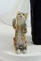 Custom wedding cat topper with cat