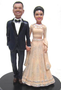 Custom Lovely Indian Bride Wedding Cake Topper - customize the colors
