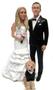 Custom Modern Treasures Wedding Cake Toppers